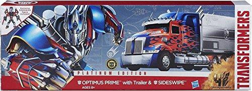 Transformers Hasbro Age of Extinction Platinum Edition Optimus Prime Trailer Sideswipe (Optimus Prime Trailer)
