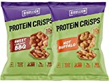 Protein Chips Variety Mix Sampler, Popped Protein Crisps, Hot Buffalo and Sweet