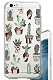 iPhone 6S Case Succulents Cactus Indoor Plant Summer Clear Translucent Transparent Unique Design Pattern Cover For iPhone 6S also fits iPhone 6