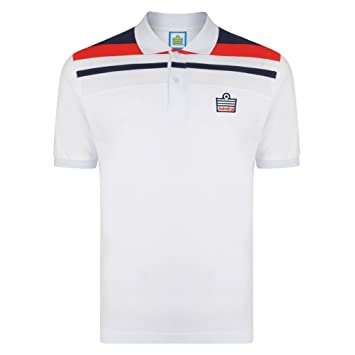 8ee1f4508 Official Retro Admiral 1982 White England Club Polo  Amazon.co.uk ...