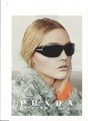 **PRINT AD** With Sasha Pivovarova For Black Prada - Prada Sunglasses Ad