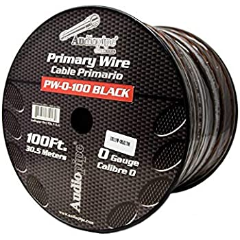 AUDIOPIPE 0 GA GAUGE RED POWER GROUND WIRE CABLE CAR AUDIO AMP 100FT SPOOL PW-0