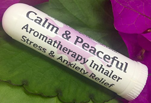 CALM & PEACEFUL Aromatherapy Inhaler! Stress & Anxiety Relief, Relax, Sleep, Unwind. Botantical Blend, 100% Natural Drug-Free Alternative Nasal Stick. Helps PMS, Moody, Tired, Irritated