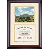 Appalachian State Mountaineers Diploma Frame Ivory Gold Matting Photograph