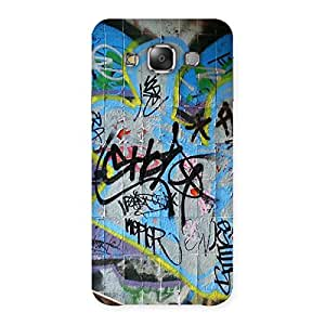 Delighted Random Art Multicolor Back Case Cover for Galaxy E7