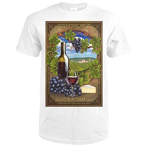 Lantern Press Livermore, California - Pinot Noir (Premium White T-Shirt - Premium Livermore