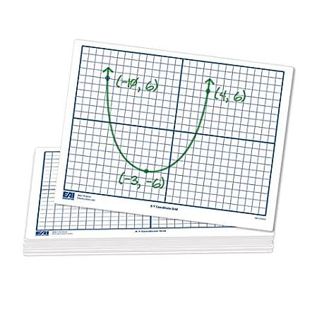 amazon com eai education x y coordinate grid dry erase boards 9