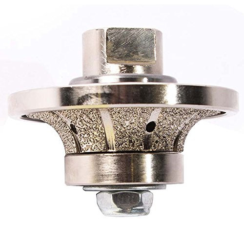 (Secco 12RPW 1/2 Inch Radius Diamond Grinding and Shaping Profile Wheel Half Bullnose Granite Tool Vaccuum Brazed 5/8' X 11 Female Threads)