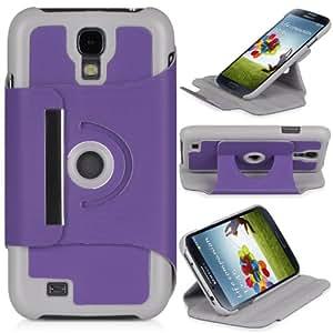 DONZO Wallet Wild - Funda para Samsung Galaxy S4 GT-I9500 y GT-I9505 LTE, color morado
