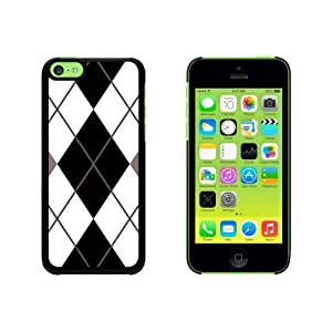 Argyle Hipster Black White Snap On Hard Protective For SamSung Galaxy S5 Mini Phone Case Cover - Black