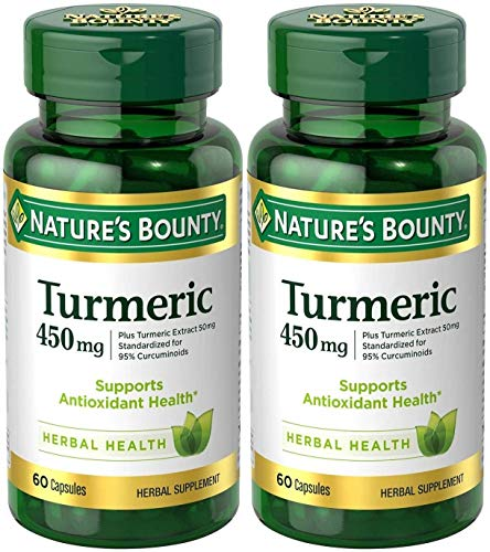 Nature's Bounty Turmeric 450 mg Capsules - 60 ct, Pack of 2 450 Mg 60 Capsules