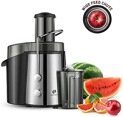 Kitchen Komforts – Licuadora profesional de frutas y verduras, extractor centrífugo muy potente de 700 W, con gran contenedor y 2 velocidades: Amazon.es: Hogar
