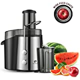 Kitchen Komforts Professional Juicer Juice Extractor, 700 W High Power Centrifugal Juicer with Wide Opening & Two-Speed Setting, Easy to Clean (Sliver)