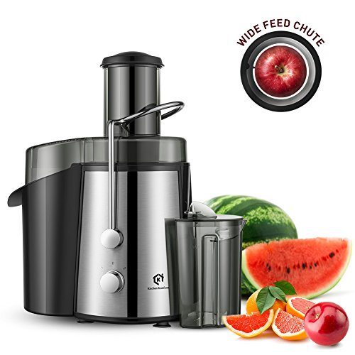 Kitchen Komforts Professional Juicer Juice Extractor, 700 W High Power Centrifugal Juicer with Wide Opening & Two-Speed Setting, Easy to Clean Review