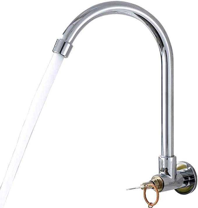 Amazon Com Modern Traditional Kitchen Sink Mixer Tap 360 Kitchen Taps Home Kitchen Water Tap Outdoor Wall Key Faucet With Lock Anti Theft Public Outdoor Garden Outdoor Exclusive Copper Quick Opening Faucet Furniture Decor