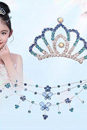Generic Crown Princess children every day special chain diamond tiara girls hair accessories baby hairpin children hairpin Korea by Generic (Image #2)