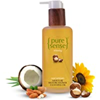 PureSense Moisturizing Shower Cleansing Oil - With Macadamia   Sulphate and Paraben Free   200 ml