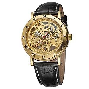 FORSINING - Reloj de Pulsera analógico de Piel para Hombre, diseño ...