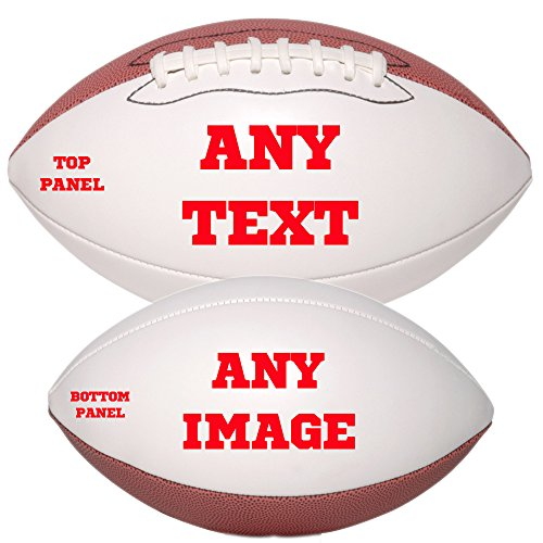 (Personalized Custom Photo Regulation Football - Any Image - Any Text - Any Logo)