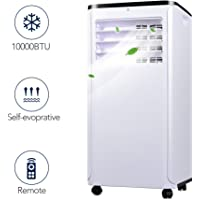 Portable Air Conditioner - Quieter Cold Air Conditioner w/ Remote Control, 10000BTU Portable AC, Versatile Design & Multipurpose, Class A Energy Saving Conditioner Used with Windows, 1 Year Warranty