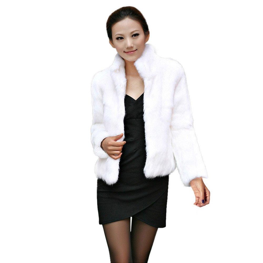 kingf Women Warm Faux Fur Fluffy Coat Autumn Winter Jacket Cape Poncho Outerwear kingfansion Women