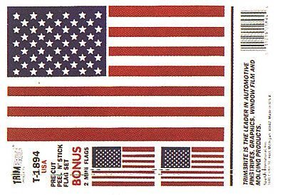 Trimbrite T1894 Sticker American Flag product image