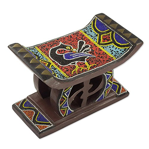 NOVICA Animal Themed Glass Stools, Multicolor, Adinkra for sale  Delivered anywhere in USA