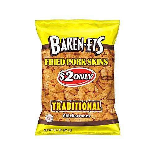 Traditional Pork - An Item of Baken-Ets Traditional Fried Pork Skins (3.25 oz, 15 ct.) - Pack of 1 - Bulk Disc