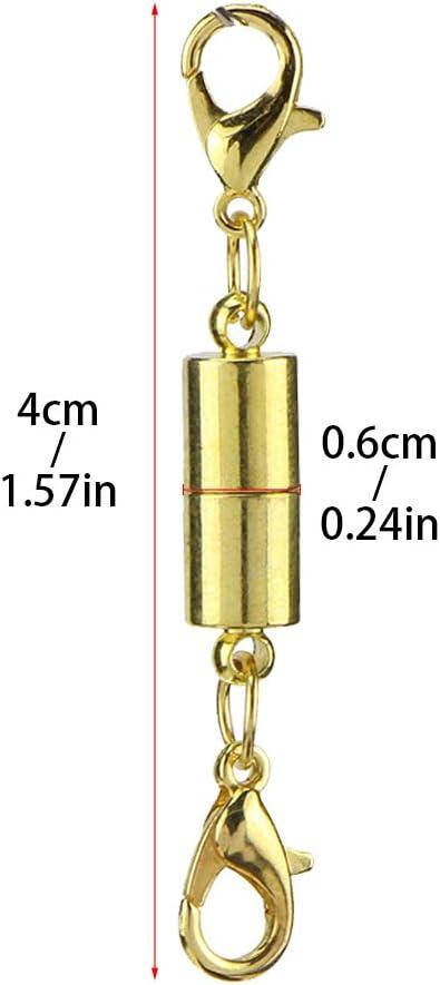 Verl/ängerung f/ür Schmuck Halsketten-Verschluss magnetische Schmuck-Verschl/üsse Gold- und Silberfarben Halskette ZZM Magnetischer Karabinerverschluss Armband