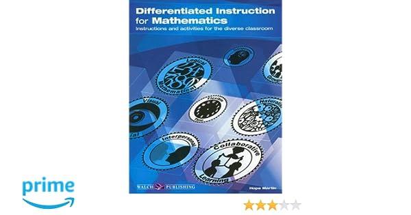 Workbook differentiated instruction worksheets : Differentiated Instruction for Mathematics: Hope Martin ...
