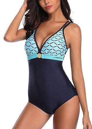 abd5bc2b92 AOQUSSQOA Femme Maillot de Bain 1 pièce Amincissante Slim Grande Taille  Bikini Transparent: Amazon.fr: Vêtements et accessoires