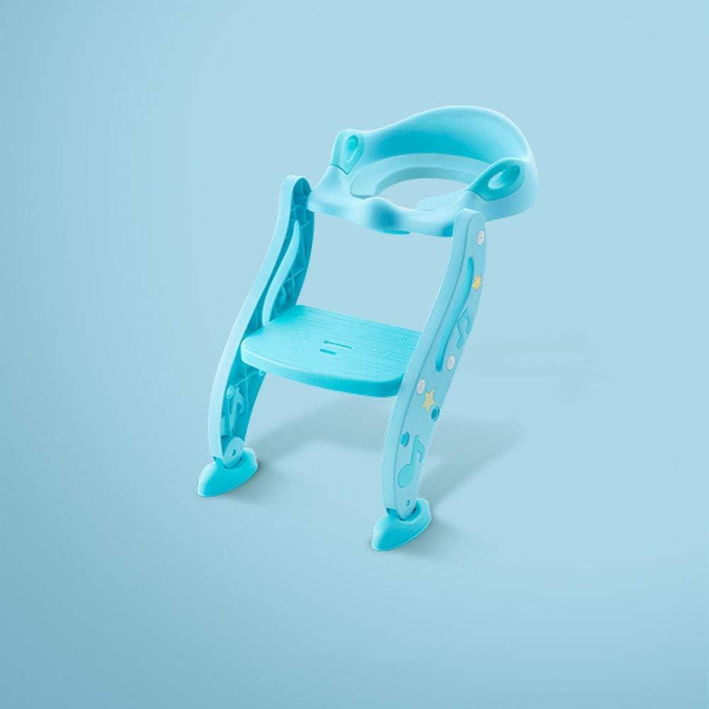 Asiento wc escalera Alto,Aseo escalera asiento Asiento de entrenamiento,(3 en 1) Entrenador para niños pequeños Manijas Almohadillas antideslizantes Para Bebé Niño-Azul: Amazon.es: Bebé