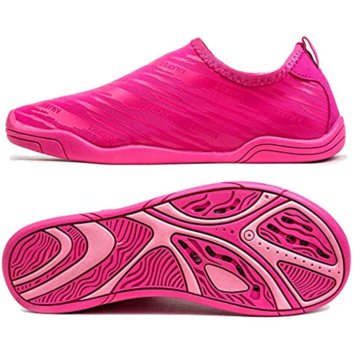 VAMV Water Shoes for Kids Boys Girls Quick Drying Beach Swim Shoe Sneakers Slip On Aqua Sock(Little Kid/Big Kid)