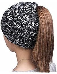 Women Beanie Knit Baggy Hat with Faux Fur Pompom Winter Soft Warm Ski Cap for Girls …