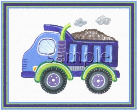 Under Construction - Little Boys Nursery Art Prints (8