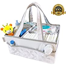"Baby Diaper Caddy Organizer - Nursery Storage Bin & Portable Organizer Basket for Infant Essentials by Innovout (14""x11""x7"") Holds Diapers, Wipes & Lotions – Baby Shower Gift – Sturdy & Nontoxic"