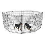 "BV Pet Foldable Exercise Pen/Dog Playpen, 8 Panels with Single Door (36"" H)"