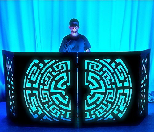 DJ Booth by Dragon Frontboards DJ Facade Black Frame Etz 4 Panel