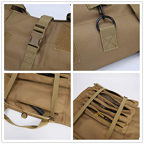 Wrench Roll Up Pouch Tools Organizer Bag Super Storage with 23 pockets (Tan) by Garry Tactical (Image #4)
