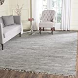 Safavieh Rag Rug Collection RAR121A Hand Woven Grey Cotton Area Rug (9′ x 12′)