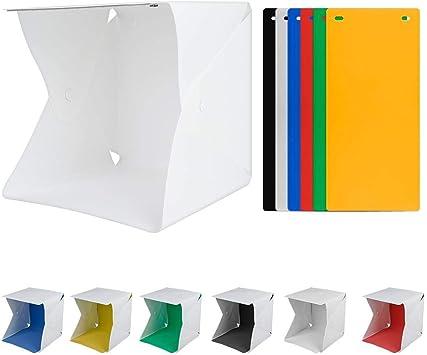Caja de luz superior de mesa de fotografía, caja de estudio plegable portátil de fotografía con