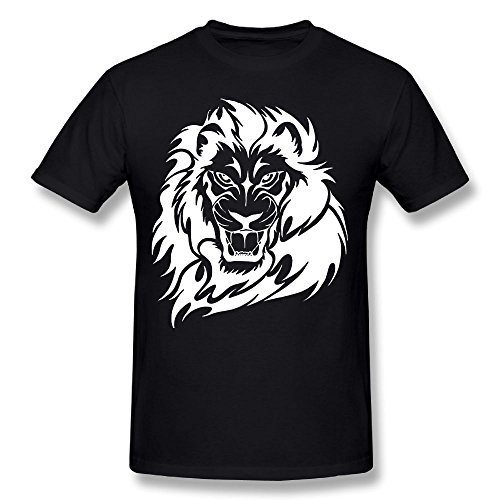 Lion Roar-1 Adult Humor Novelty Graphic Short Sleeve Funny T Shirt For Men