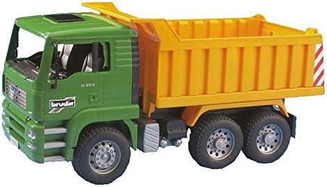 Bruder-02765 Camión volquete Man, Color Verde, Amarillo (2765)