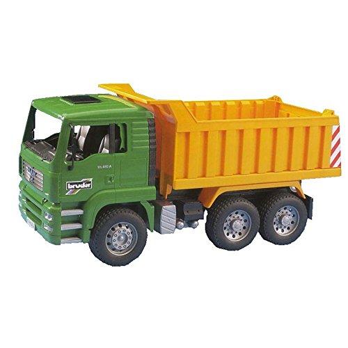 Bruder 02765 - Camion benne MAN - Vert Jaune