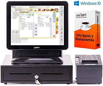 Pack GEON para Hosteleria TPV táctil Completo + cajón + Impresora 80mm + Windows 10 + Software Hosteleria restaurantes, cafeterias, heladerias.: Amazon.es: Informática