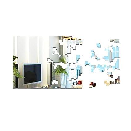 Amazon.com: Pegatina de pared con espejo de Momes, 1 unidad ...