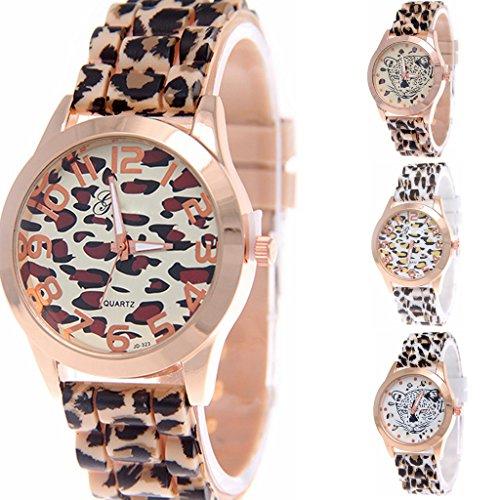 Yunanwa Wholesale 4 Assorted Women Watches Leopard Silicone Watch Jelly Girl Wristwatch Dress (Wholesale Women Dresses)