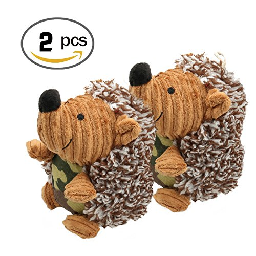 Hedgehog Dog Toys,2 Pack Pet Squeaky Toys Stuffed Plush Hedgehog Dog Toys