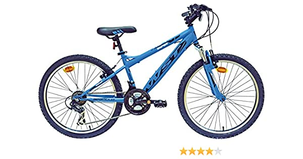 WST BTT Sniper Bicicleta Montaña, Niños, Negro/Naranja, 24