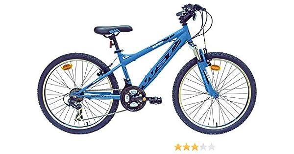 WST BTT Sniper Bicicleta Montaña, Niños, Negro/Naranja, 24 ...